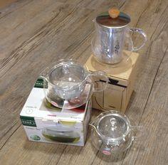 Lovely range of 700ml and 360ml glass #Hario #teapots -