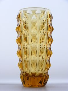 Rosice yellow glass vase