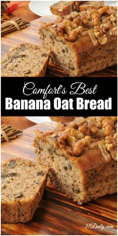 Treat your family and friends to a quintessential comfort food, Banana Oat Bread with Toasted Walnuts. | 31Daily.com