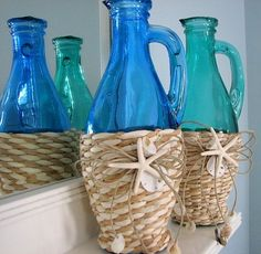 Great on it's own, as gift for guests or as a vase for fresh flowers. Pottery Barn.