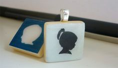 Silhouette Scrabble Tile Pendant- this may be a little ambitious but I might try this for a few of my tiles.