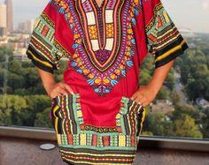 Gelbe afrikanische Dashiki Kleid/Top von MuurSwagg auf Etsy