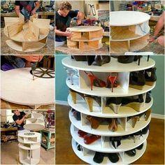 Spinning shoe rack