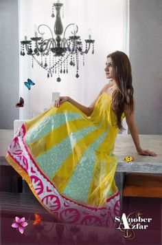 These dresses are also in different forms and types. You can call them frocks or long kameez with wide bottoms...More at http://www.newfashioncorner.com/sanober-azfar-spring-collection-2014/