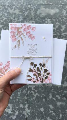 Tarjetas Stampin Up, Stampin Up Karten, Vintage Greeting Cards, Greeting Cards Handmade, Wedding Cards Handmade, Birthday Wishes For Kids, Happy Birthday, Fern Wedding, Leaf Cards