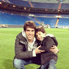 Comemorando com o Luca a vitoria de hoje no Bernabeu !!