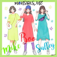 Anime Outfits, Girl Outfits, Mr Mike, Portfolio Site, Monsters Inc, Paper Dolls, Disney Characters, Fictional Characters, Halloween Costumes