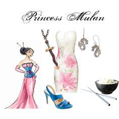 """Princess Mulan"" by nearlysamantha on Polyvore"