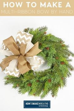 Bows are super important in our craft, y'all. They really take your creations to the next level. Learn how to make a beautiful multi-ribbon bow by handl! Front Door Decor, Wreaths For Front Door, How To Make Bows, How To Make Wreaths, Ribbon Bow Tutorial, Seasonal Decor, Holiday Decor, Pretty Room, Deco Mesh Wreaths