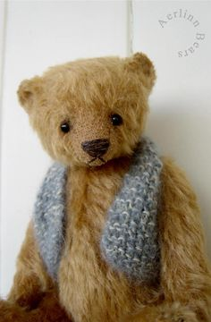 """Jasper,7"""" Mohair Teddy from Aerlinn Bears"""