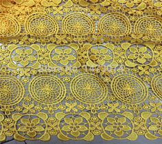 Latest african water soluble chemical laces 2015 Nigeria guipure cord wedding lace fabric 5yards one piece NO.366