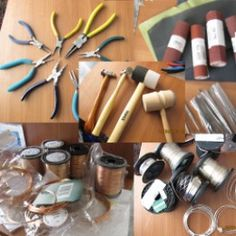 Here are some basic tools for wire wrapping jewelry, all tools that I use every time I make this kind of handcrafted jewelry at home.