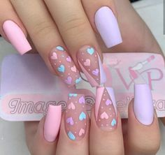 Edgy Nails, Trendy Nails, Swag Nails, Acrylic Nails Coffin Pink, Acrylic Nail Art, Acylic Nails, Nagellack Design, Fire Nails, Dream Nails