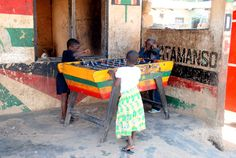 Hey mister! You wanna game of table football? Wa, Ghana, Africa
