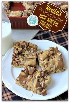 Chocolate is the answer...who care what the question is. Fall in love with these Reese's Peanut Butter Rice Krispie Treats. Bakerette.com