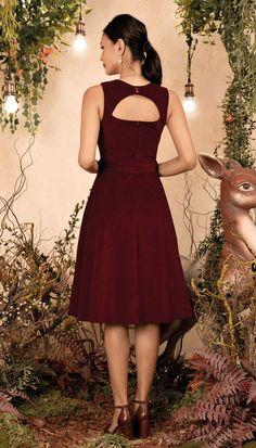 Vestido Midi Flor Do Campo Bordô | Antix Ideias Fashion, Style Inspiration, Outfits, Dresses, Skirts, World Of Fashion, Templates, Vestidos, Extreme High Heels