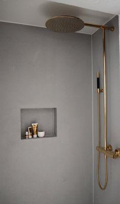 COCOON modern shower room design inspiration bycocoon.com | copper fittings | stainless steel bathroom taps | inox taps | modern shower sets | bathroom design | renovations | villa design | hotel design | Dutch Designer Brand COCOON | Lene Orvik