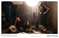 "Annie Leibovitz andMikhail Baryshnikov. Annie's studio, New York, photographed by Annie Leibovitz for Louis Vuitton's September 2007 ""Core Values"" ad  campaign."