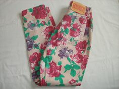 Vintage BONGO 80's Floral High Waisted Tapered Jeans