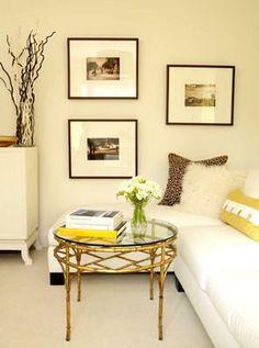 Resultado de imagem para decoração parede amarela clara