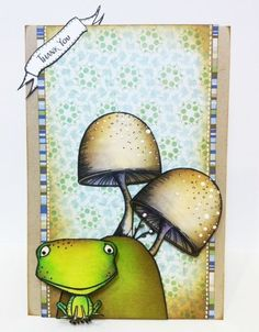 Thank you card by Kathy Racoosin.  Stacey Yacula Studio stamps from Purple Onion Designs.