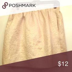 Pins and Needles metallic patterned skirt Pins and Needles (Urban Outfitters) gold metallic brocade-style print. Front pockets on hip. Pins & Needles Skirts Circle & Skater