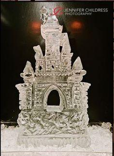 Castle Ice Sculpture at the Cescaphe Ballroom