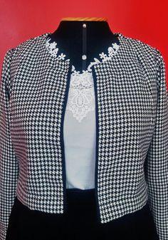 Blusa Preto e Branco - Maria Filotéia
