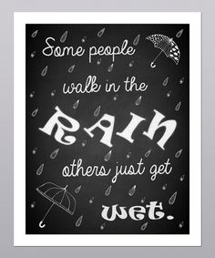 Take a look at this 'Walk in the Rain' Umbrella Print on zulily today!
