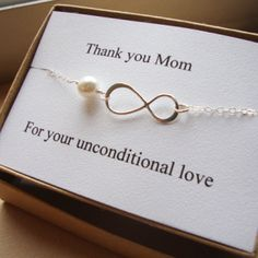 Thank You Mom Infinity Bracelet - Mother of Bride or Groom, Eternity Bracelet, Wedding Special Gift, Jewelry Card Set via Etsy Eternity Bracelet, Bangle Bracelet, Wedding Gifts For Bride And Groom, Bride Gifts, Bride Groom, Wedding Thank You Gifts, Trendy Wedding, Dream Wedding, Wedding Inspiration