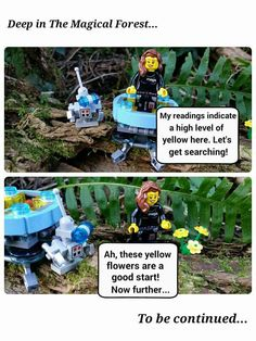 Megs and Brickbot in:Search for Yellow   #LEGOAdventureBook #Megsonthemove #LAB #LABAdventurers #LEGOFUN #MagicalForest #LABSearchForYellow