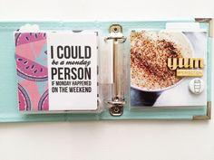 4x4 mini album spread by Kellie Winnell (FYC Get Cozy mini flair designed by Brandi Kincaid)