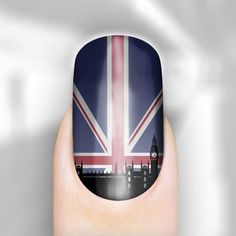 London scene union jack nail wraps. Really like Rebel Nails.