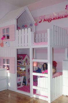 Bed For Girls Room, Big Girl Rooms, Girls Bedroom, Kids Room, Bedroom Decor, Bedrooms, Bunk Bed Designs, Girl Bedroom Designs, Kids Bed With Slide