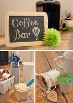 Coffee Bar| Hot Air Balloon Baby Shower | Anthony & Stork