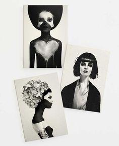 Female Portraits II Set als Grußkarten-Set von Ruben Ireland | JUNIQE  https://www.juniqe.de/female-portraits-ii-set-gift-card-set-of-3-272723.html