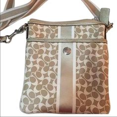 Coach Cross Body Bag Coach Cross Body Bag. Small stain inside interior bag. Coach Bags Crossbody Bags