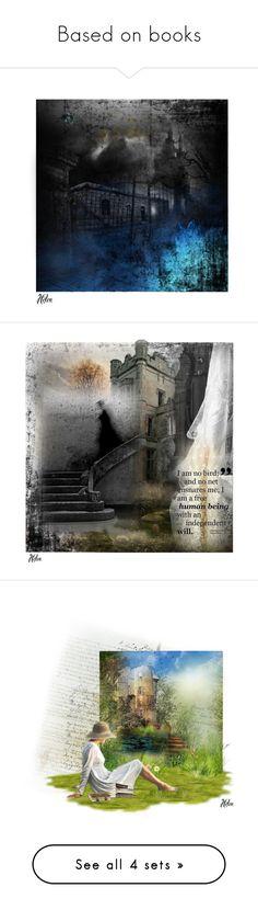"""Based on books"" by helenelizabethuk ❤ liked on Polyvore featuring art"