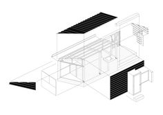 Gallery of Wood and the Dog / StudioErrante Architetture - 15 Turin, Axonometric Drawing, Villa Plan, Architecture Student, Dog Pictures, Gallery, Architectural Drawings, Wooden Houses, Perspective