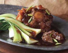Braised Oxtail, Chinese Style. Similar to mom's, except brown oxtails in pot first, then deglaze with a half a cup of ShaoXing rice wine, or half a bottle of beer before adding other braising ingredients.