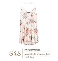 Stitch Fix: Papermoon Makai Halter Swing Knit Tank Top $48