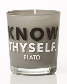 Know thyself - Plato. Lavender Scent, Greek Words, Scented Candles, Tableware, Greek Sayings, Dinnerware, Tablewares, Dishes, Place Settings