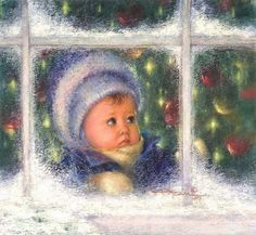 Christmas art by Kathryn Andrews Fincher