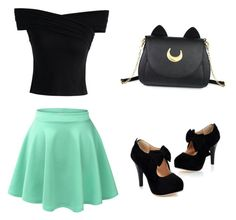 """Cute outfit"" by gg532678 on Polyvore featuring LE3NO, Chicwish and Usagi"