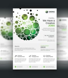 Dots Professional Business Flyer Design Template 001509