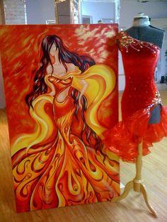 Tango Dress Dress For Tango Red Latin Dance by DesignByNatasha, $599.00