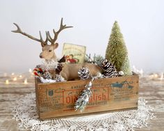 Vintage Style Christmas Decoration Flocked by TheHeirloomShoppe