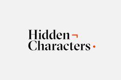 Hidden Characters by RE, Australia. #branding #logotype