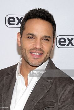Daniel Sunjata visits 'Extra' at their New York studios at H&M in Times Square on October 27, 2016 in New York City.
