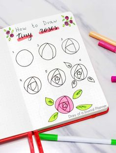 Find a huge list of flower doodle tutorials and step-by-step flower drawing ideas. From rose drawing to simple flower doodles for bullet journals and more. Doodle Drawings, Easy Drawings, Cool Small Drawings, Horse Drawings, Lettering Tutorial, Hand Lettering, Rose Doodle, Flower Drawing Tutorials, Drawing Ideas